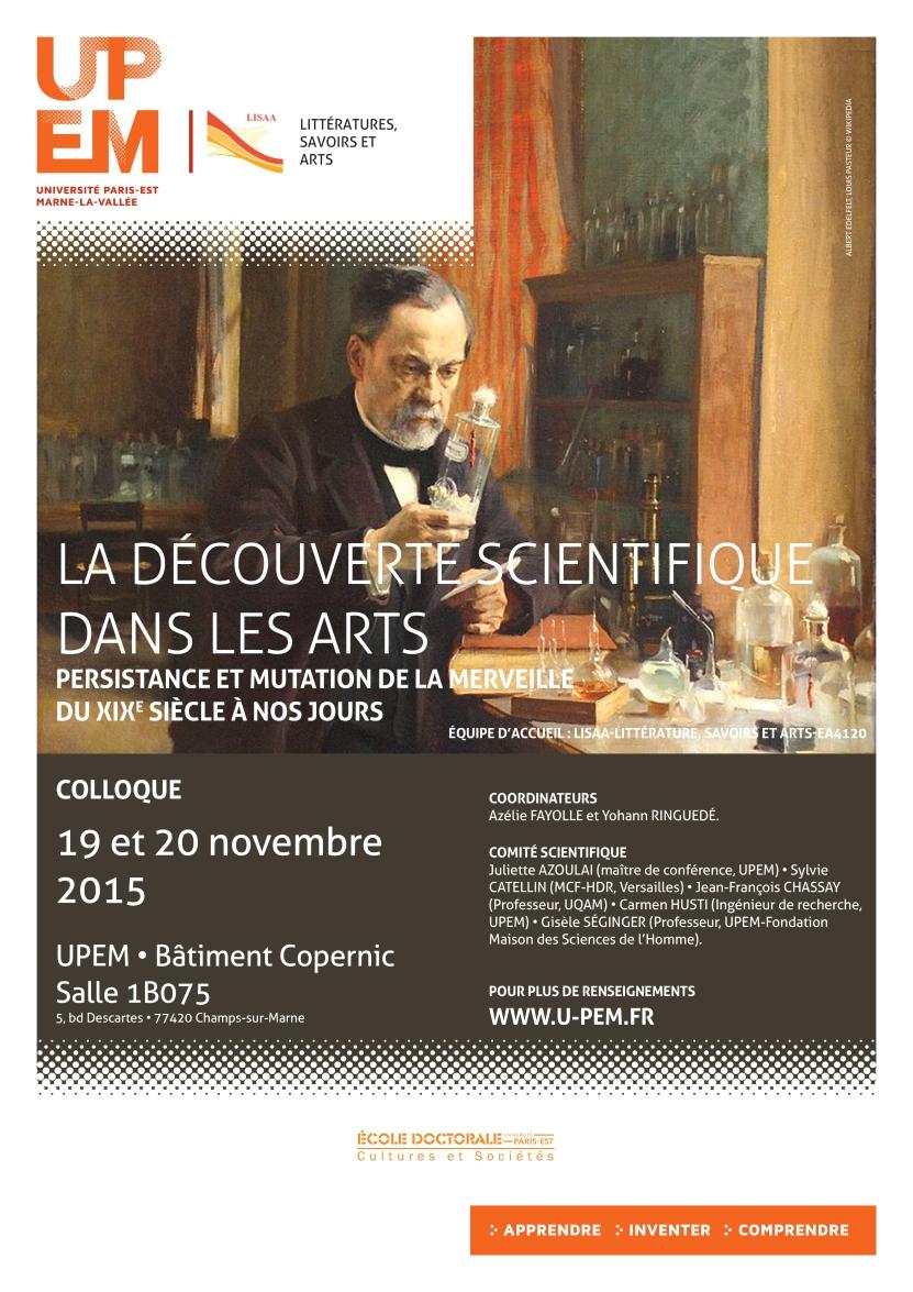 AFFICHE (LA DECOUVERTE SCIENTIFIQUE DANS LES ARTS)-PRINT(1)